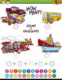 Math task for preschool kids Stock Photos