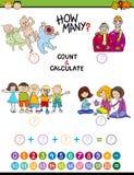 Math task for preschool kids Stock Photography