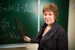 Math teacher Stock Photography