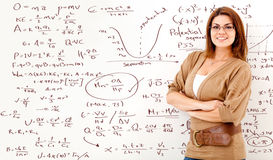 Math teacher Royalty Free Stock Photo