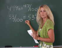 Math Teacher in classroom Stock Photography