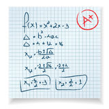 Math test and exam vector illustration