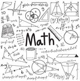 Math theory and mathematical formula equation doodle handwriting Royalty Free Stock Photo