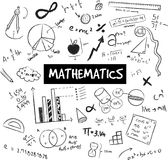 Math theory and mathematical formula and model or graph doodle