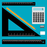 Math tool vector illustration Royalty Free Stock Images