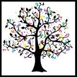 Math tree. Digits illustration  on white background. Royalty Free Stock Images