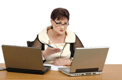 Math tutor online Royalty Free Stock Image
