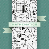 Math Vector Background. Background with hand drawn mathematics elements Stock Photography