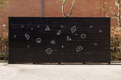 Math wall. In school yard Royalty Free Stock Photo