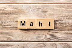 Math word written on wood block. math text on table, concept royalty free stock image