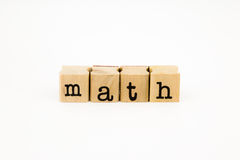 Math wording isolate on white background Stock Image