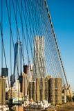 Mathattan van de Brug van Brooklyn Stock Foto
