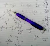 Matheübungen Stockfotos