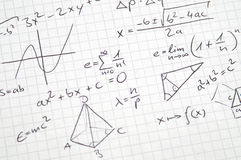 Mathe-Anmerkungen Stockfotografie