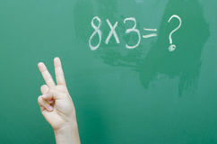Mathe-Antwort stockfotografie