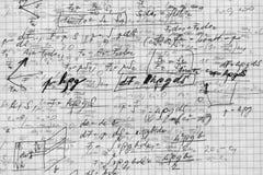Mathe auf dem Papier Stockfotografie