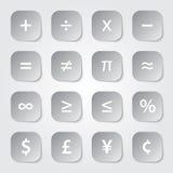 Mathe-Finanzsymbole vektor abbildung
