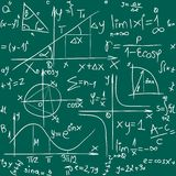 Mathe-Hintergrund-Muster Stockfotos