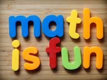 Mathe ist Spaßkonzept Stockbild