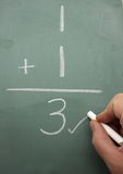 Mathe-Korrektur Stockbild
