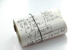 Matheformeln und -gleichungen Stockfotos