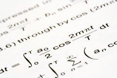 Mathegleichung Stockfoto