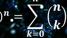 Mathegleichungen, die im Abstand fliegen und verschwinden lizenzfreie stockfotografie