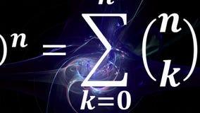 Mathegleichungen, die im Abstand fliegen und verschwinden stockfotografie