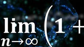 Mathegleichungen, die im Abstand fliegen und verschwinden lizenzfreie stockbilder