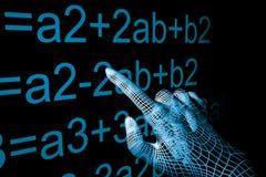 mathemathics руки Стоковая Фотография