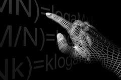 Mathemathics de la mano Fotos de archivo