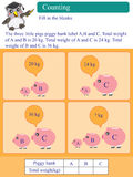 Mathematic calculation kilogram piggy bank Stock Photography