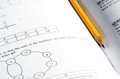 Mathematic exam paper Royalty Free Stock Photo