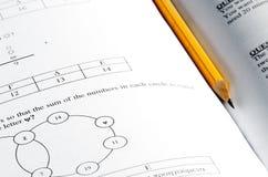 Mathematic exam paper Royalty Free Stock Photo
