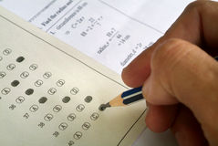 Mathematic exam paper Royalty Free Stock Photos