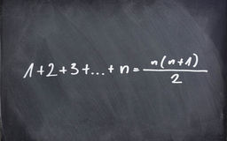 Mathematic formula on chalkboard Stock Photos