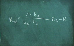 Mathematic formula on chalkboard Stock Photography