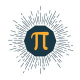 Mathematic Pi icon flat. Vector illustration royalty free illustration