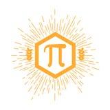 Mathematic Pi icon flat. Vector illustration vector illustration