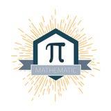Mathematic Pi icon flat. Vector illustration stock illustration