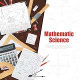 Mathematic Science Background Poster Stock Photo