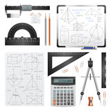 Mathematic Science Images Set Royalty Free Stock Photo
