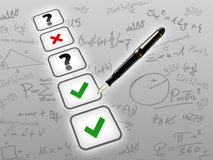 Mathematic test exam concept Royalty Free Stock Images