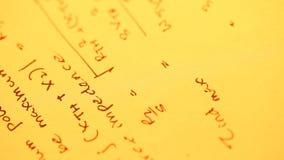 MathematicalÂ-Hintergrund stock video footage