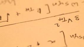 MathematicalÂ-Hintergrund stock video