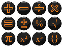 Mathematical. Related black icon set individually layered Vector Illustration