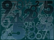 Mathematical background Stock Images