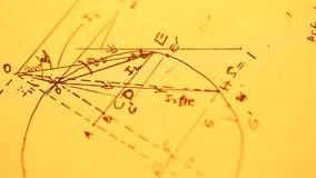 Mathematical Background stock footage