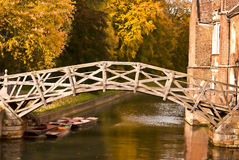 Mathematical bridge in Autumn Stock Images