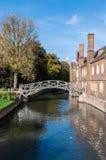 Mathematical Bridge, Cambridge, England Stock Photos